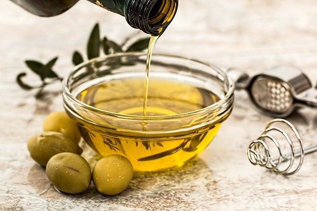 olive oil, olives, food